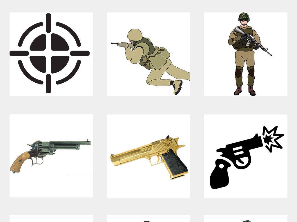 绝地求生枪战人物海报png素材