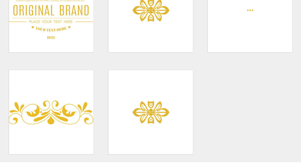 ai/独立png/欧式花纹边框花边古典花纹素材图片