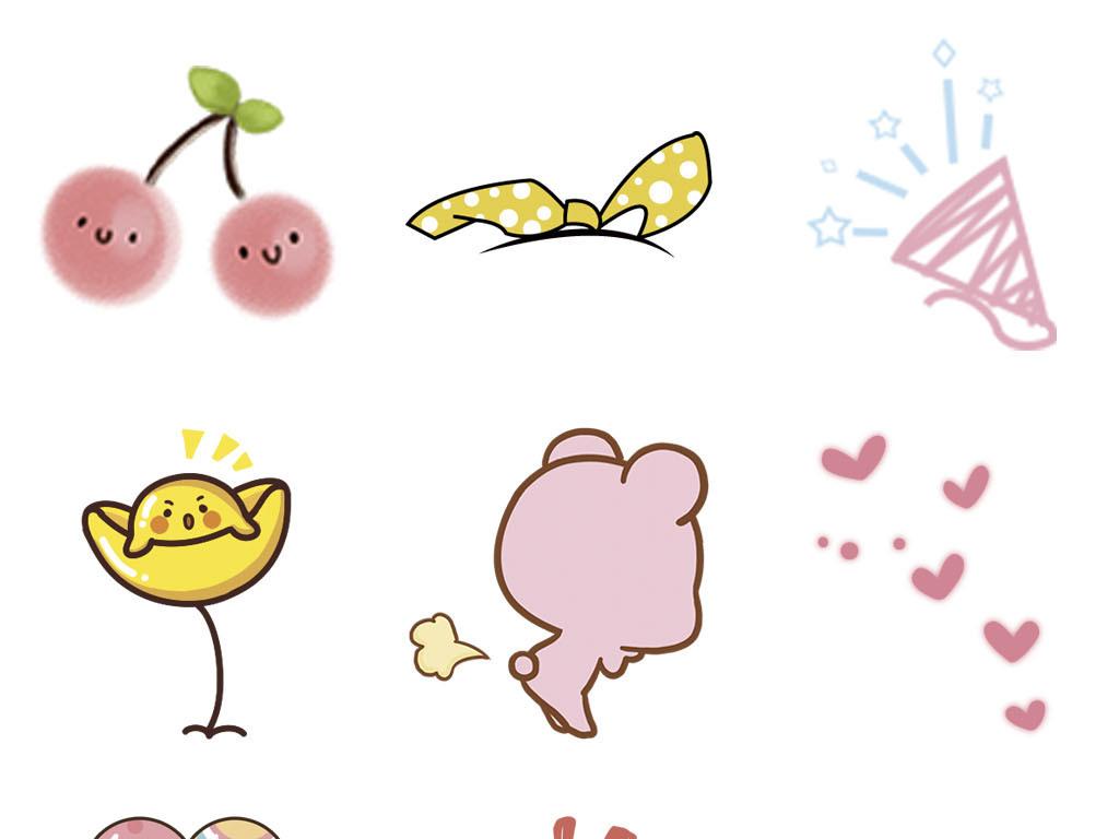通贴纸水管动物花朵幼儿简笔画涂鸦画素材图片 模板下载 2.74MB 其
