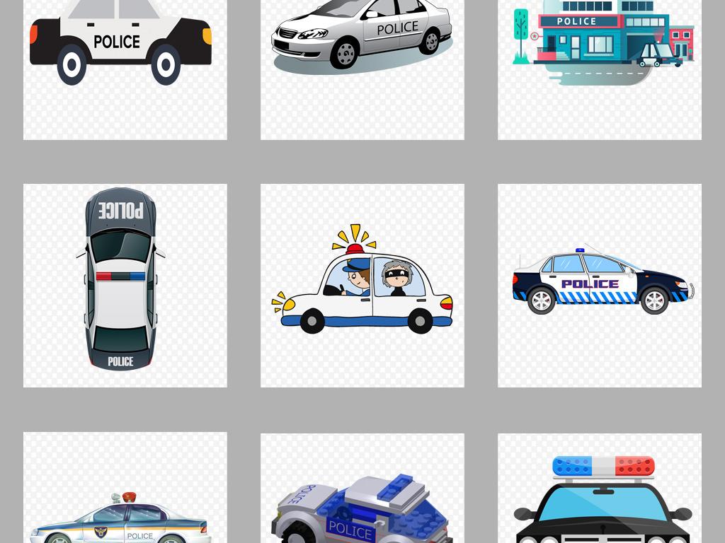 画警察和警车卡通图片卡通警车简笔画彩色110警车卡通图片小报背景图