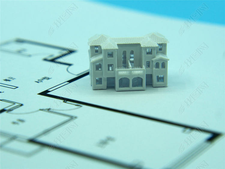 微缩景观大别墅模型加平面图纸