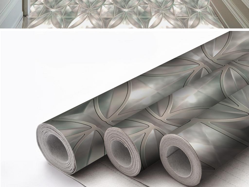 现代手绘时尚抽象几何图案无缝拼接地皮