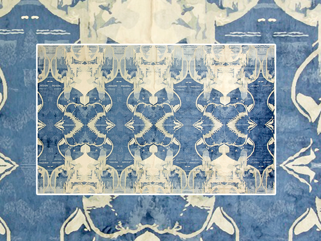 北欧抽象手绘水彩室内客厅地毯图片设计素材_高清模板