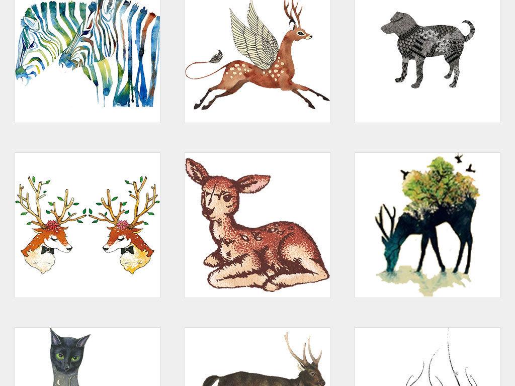 手绘卡通驯鹿鹿图片卡通鹿圣诞鹿鹿头卡通小鹿卡通驯鹿小鹿卡通麋鹿