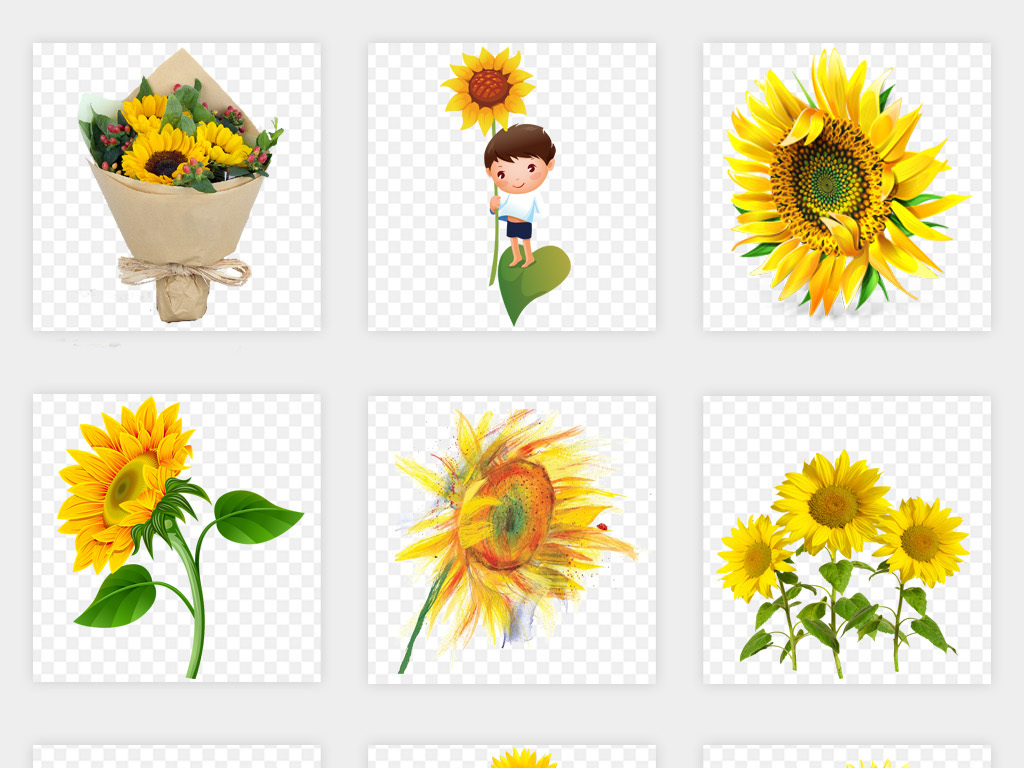 向日葵ppt矢量向日葵卡通向日葵设计素材向日葵背景