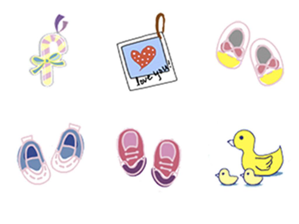 儿童幼儿园qq表情创意表情儿童ppt素材小学生心形绘画涂鸦动物生活