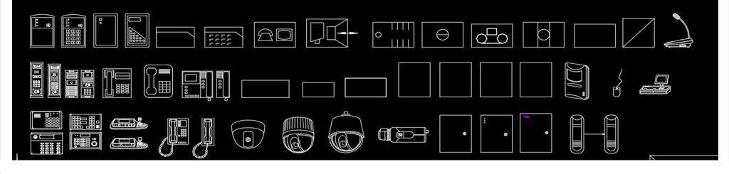 安防监控led摄像头电脑cad