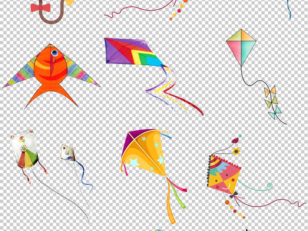 春天放风筝卡通图片小孩放三角形风筝图案素材 模板下载 23.99MB 其图片