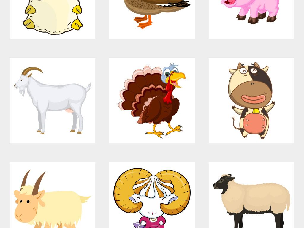 可爱卡通动物                                          卡通公鸡