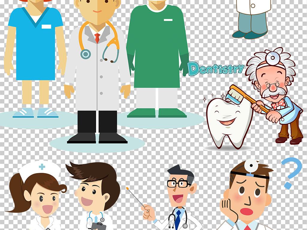 设计元素 人物形象 商务人士 > 卡通医生医疗护士海报免扣png素材背景图片