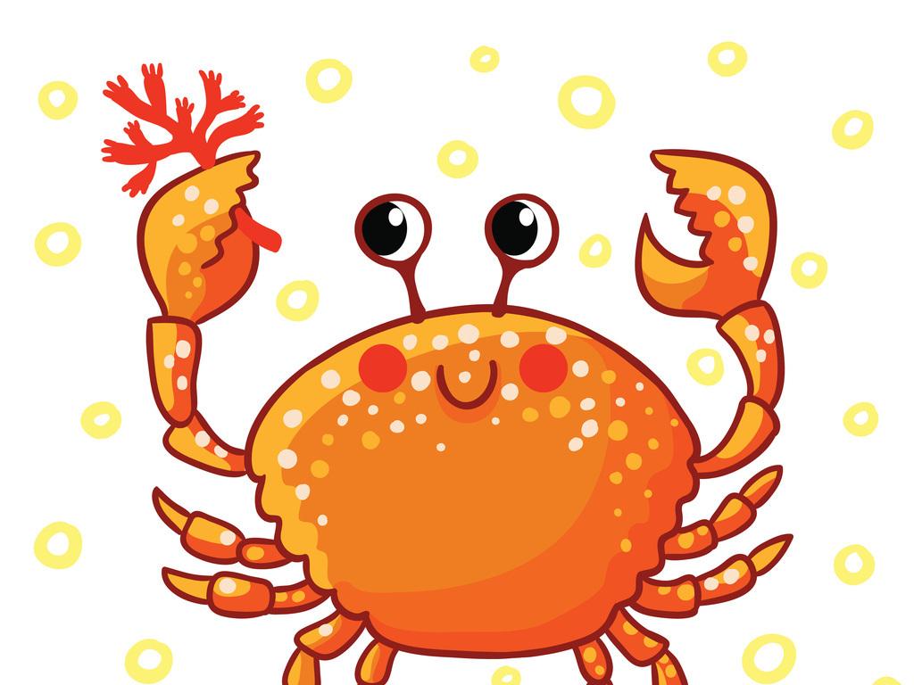 夏季深海螃蟹海豚乌贼鲸鱼长嘴鱼卡通鱼卡通女孩海马海草海洋背景童图片