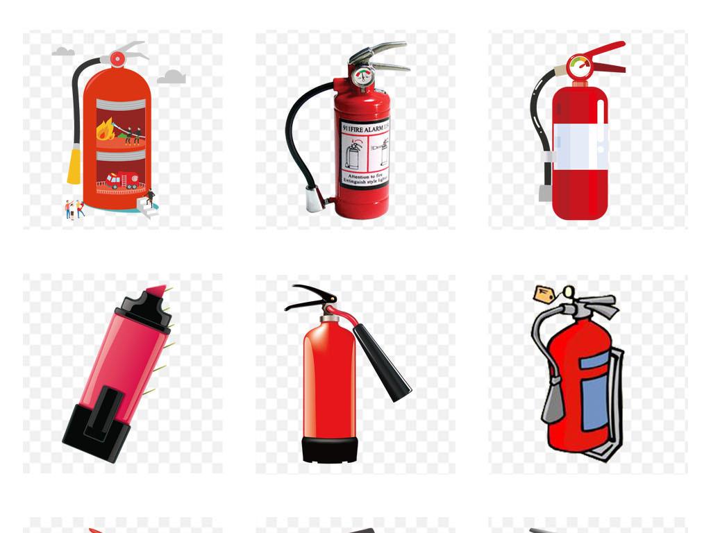 灭火器消防安全安全生产月宣传栏png素材