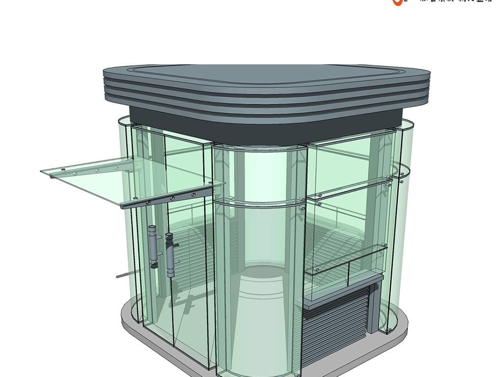 中式欧式塔楼灯塔su模型钟楼岗亭设计图下载(图片108.