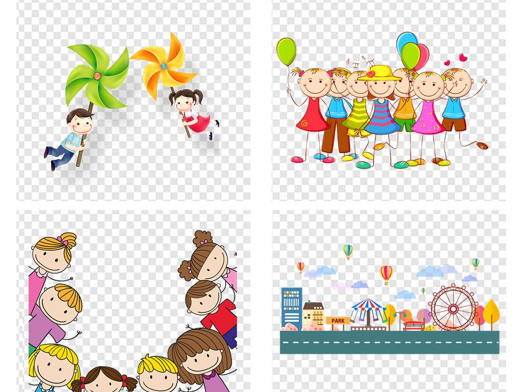 设计元素 花纹边框 卡通手绘边框 > 可爱卡通边框学生学习开学季返校