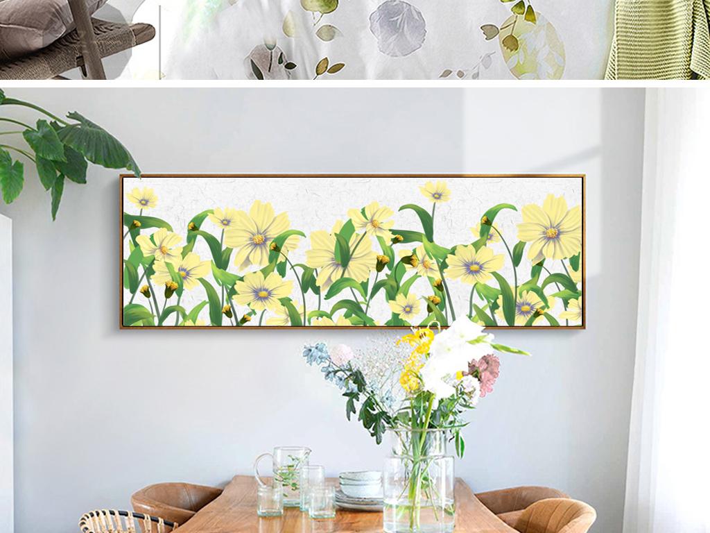 手绘卡通植物花卉装饰画ins装饰画挂画图片设计素材