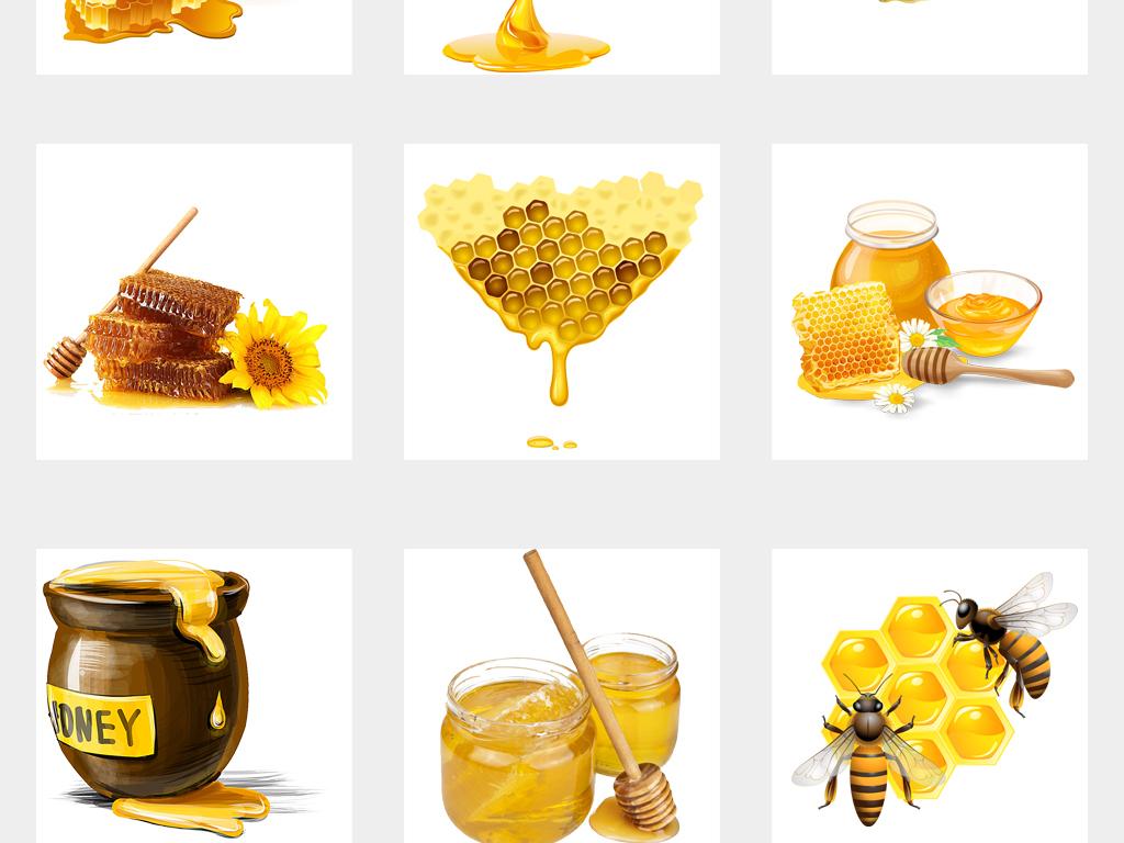 金色蜜蜂蜂蜜蜂王浆蜂巢蜜蜂采蜜png免抠素材图片 模板下载 53.63MB 其他大全 背景
