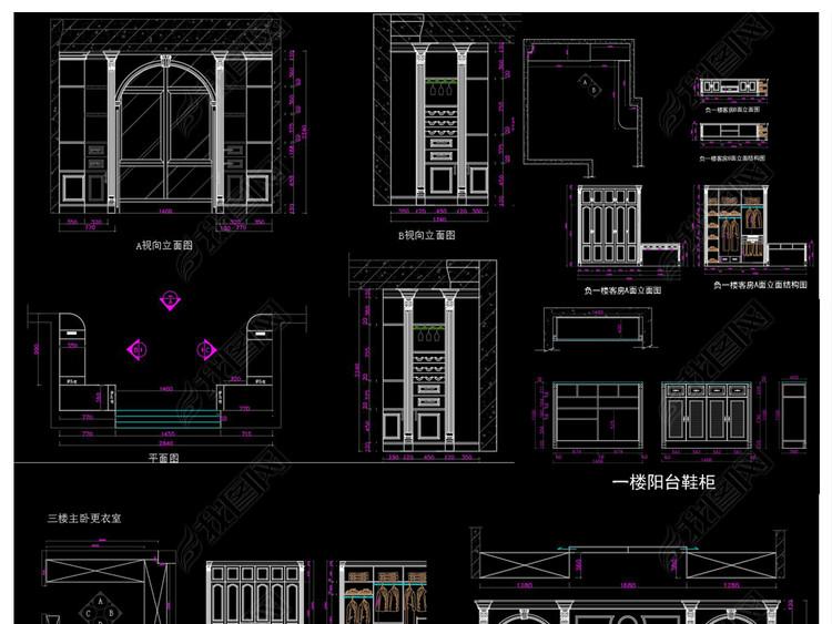 全套别墅定制家具CAD施工图