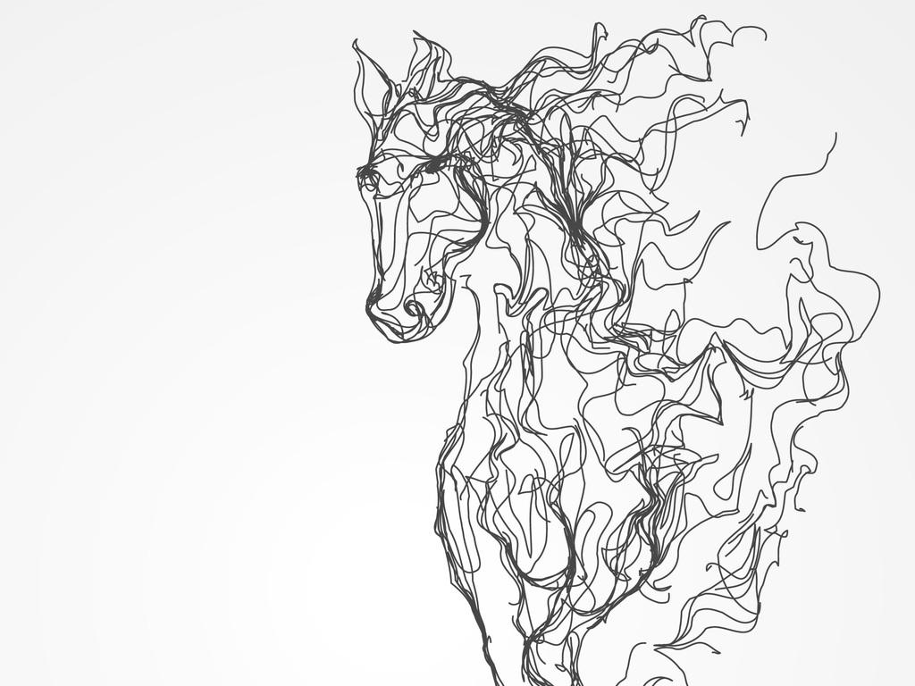 抽象空间手绘画
