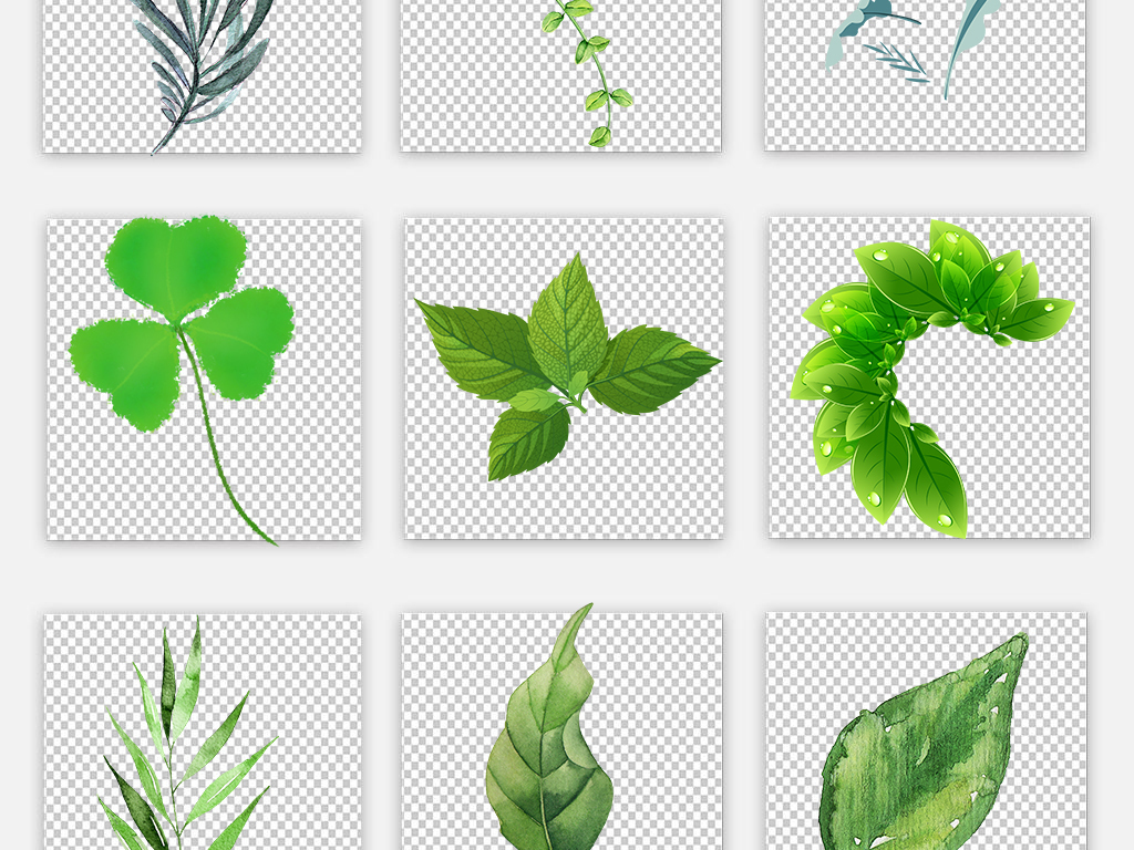 树叶手绘素材手绘水彩绿植素材小清新手绘小清新素材芭蕉图片芭蕉花