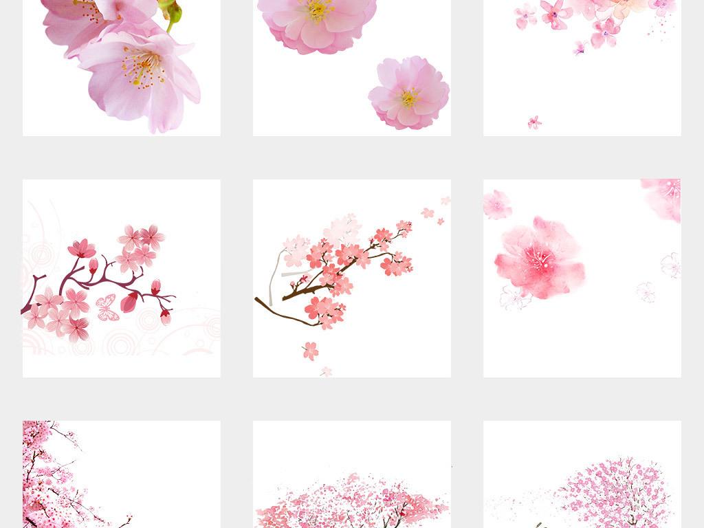 背景手绘花粉色花花花瓣春天花朵浪漫花朵樱花春天桃花浪漫樱花梅花桃