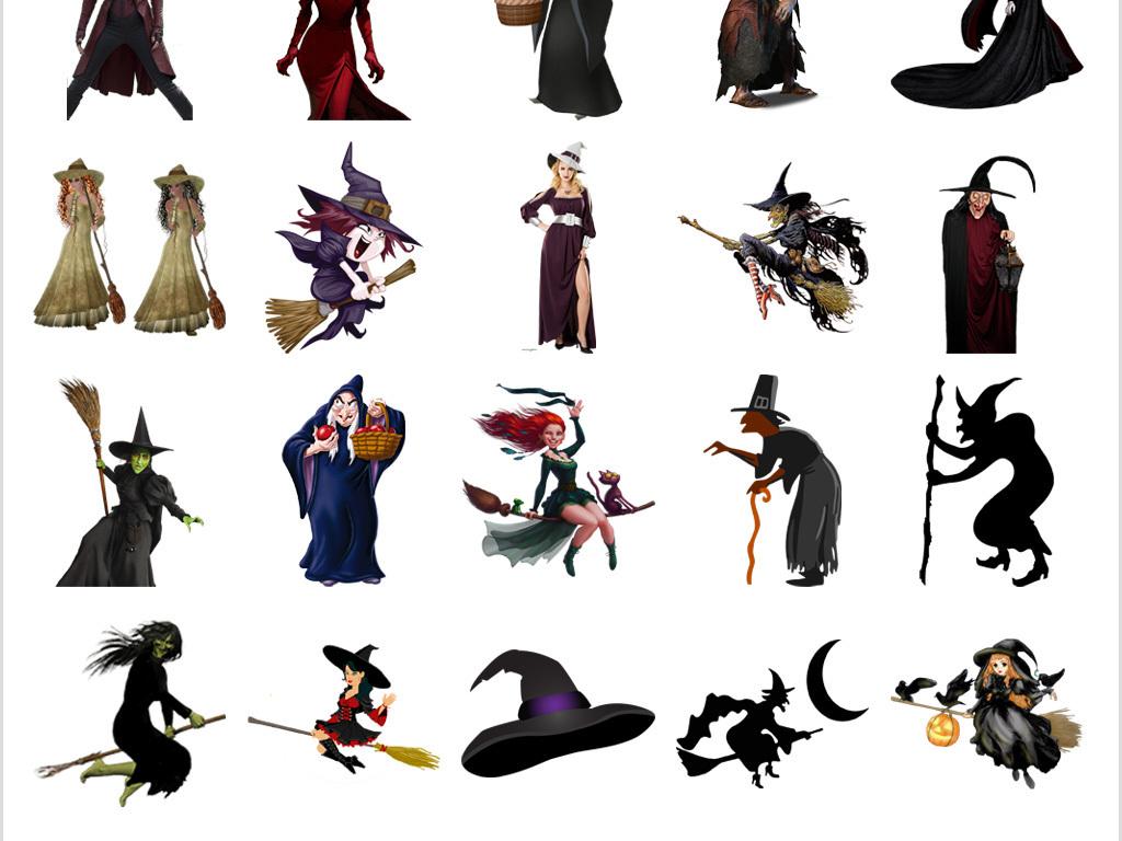 手绘卡通女巫图片png免抠图片素材