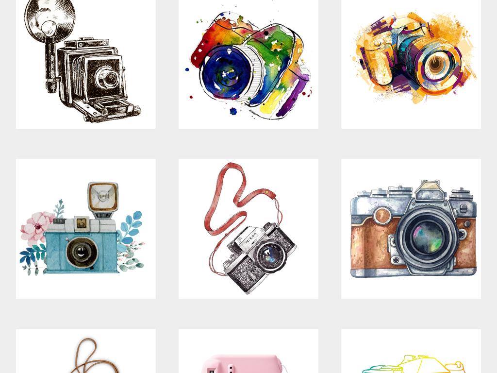 相机卡通相机手绘相机png设计元素