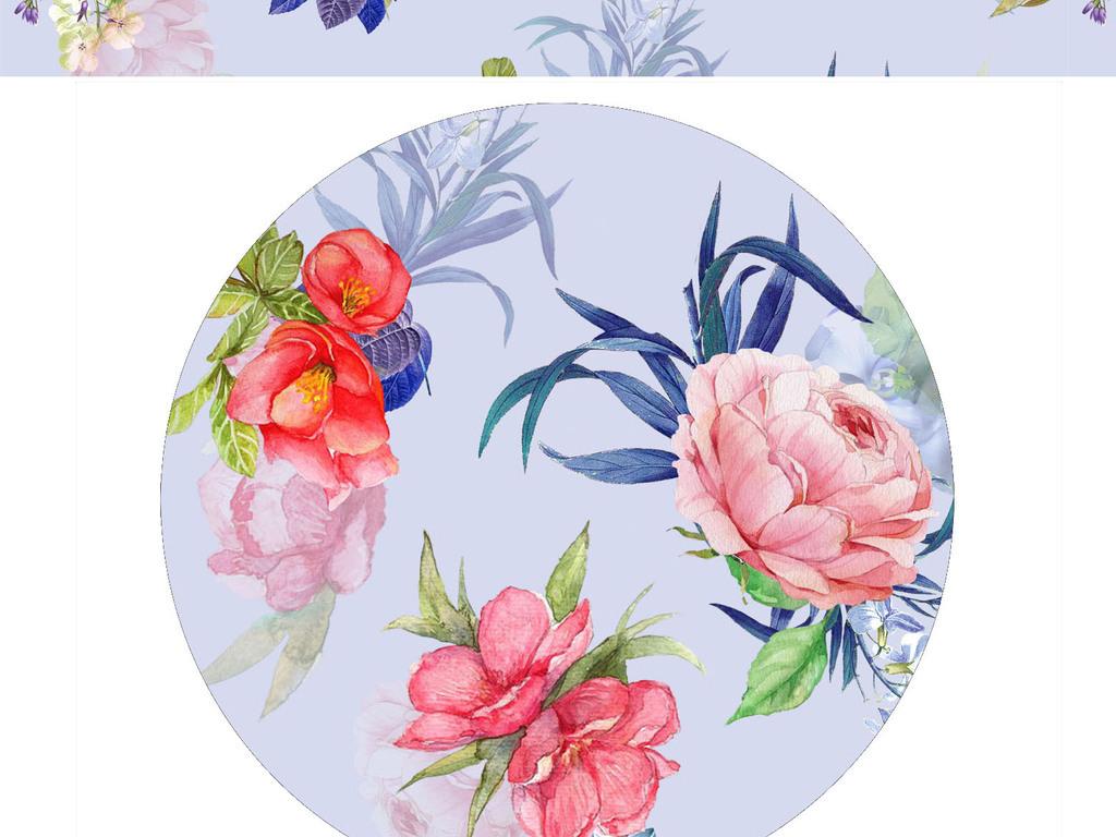 产品图案设计 服装/配饰印花图案 植物花卉图案 > 高清位图水彩水粉花