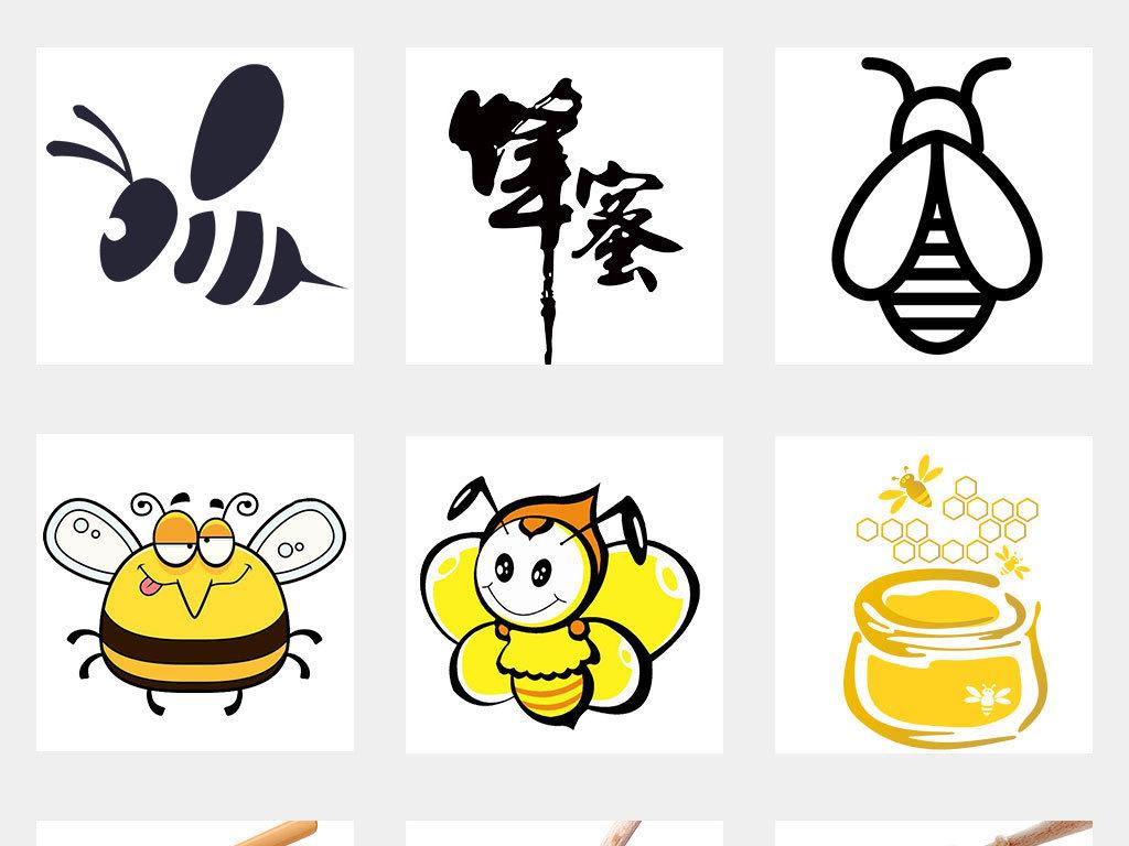 卡通可爱手绘小蜜蜂采蜜海报png素材