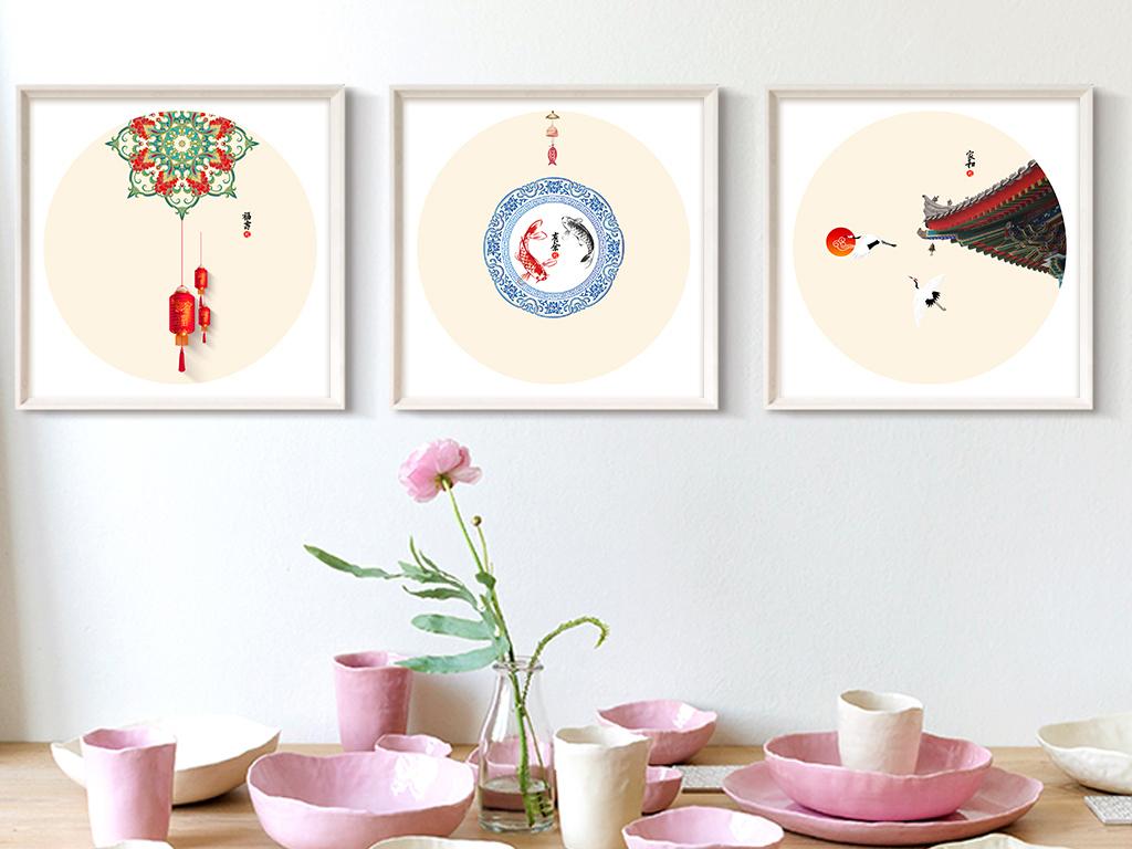 中国传统民风民俗装饰画图片设计素材 高清psd模板下载 23.76MB 民图片