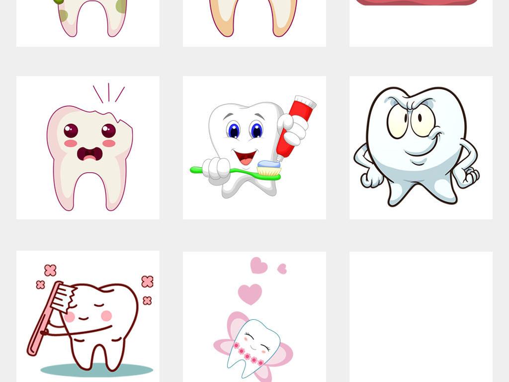 牙齿牙科爱护美容牙科医院宣传栏海报素材