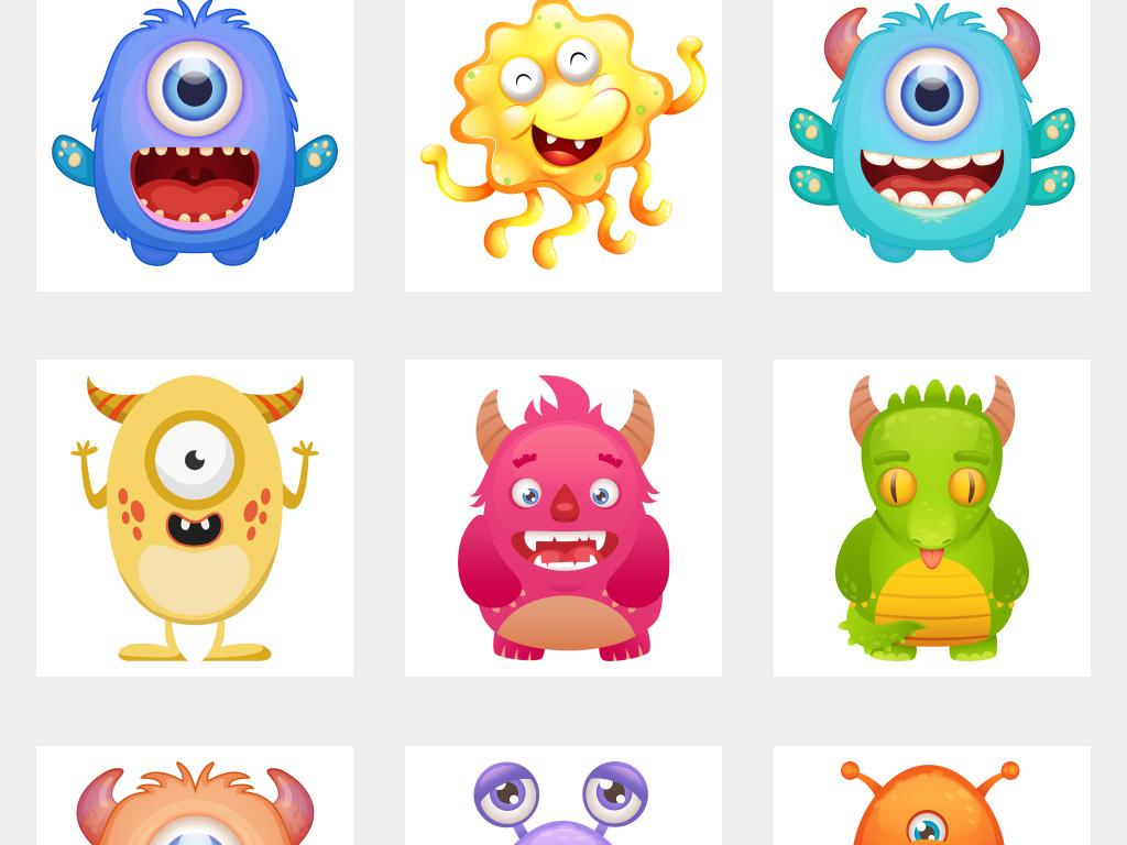 可爱怪兽卡通怪物免抠png素材