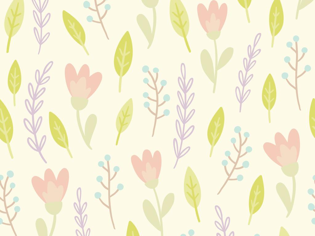 水彩植物叶子无缝面料印花设计图片_高清 矢量图素材