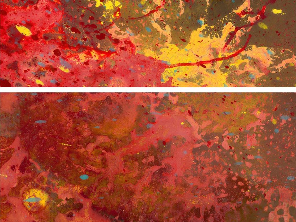 背景墙 电视背景墙 手绘电视背景墙 > 红色抽象背景墙岩浆金色黄色