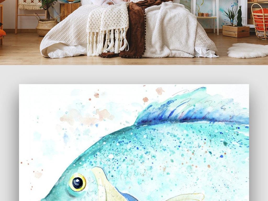 背景墙 电视背景墙 手绘电视背景墙 > 大鱼背景墙一条鱼大鱼海棠可爱