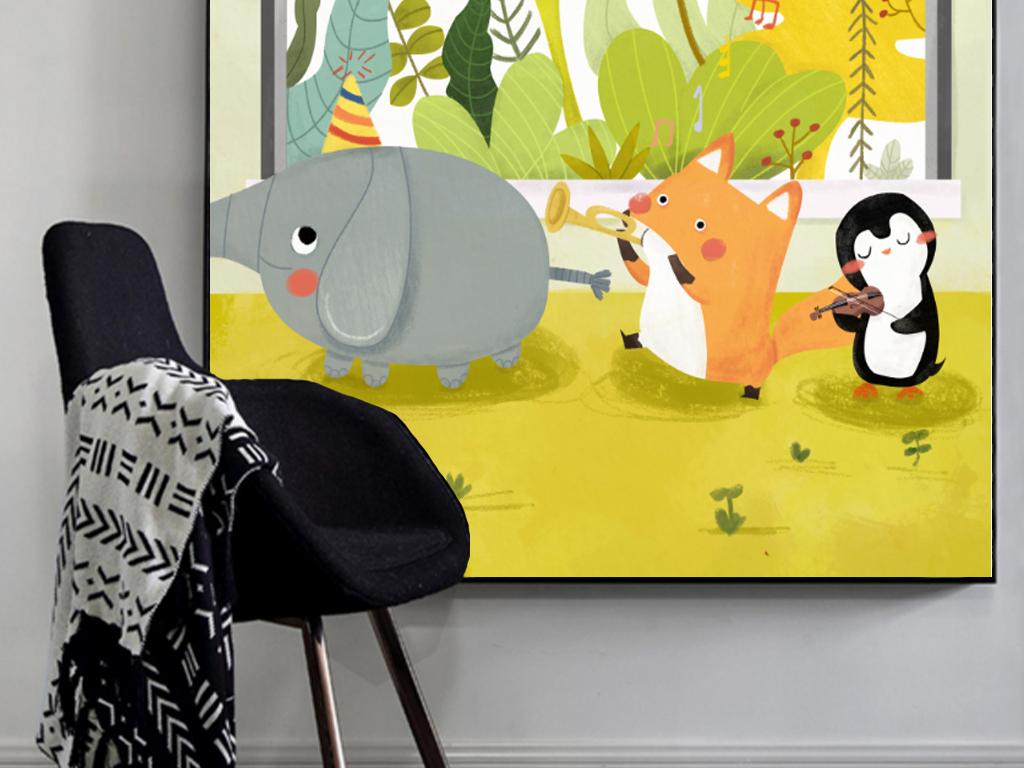 卡通手绘现代简约素雅十二节气装饰画挂画