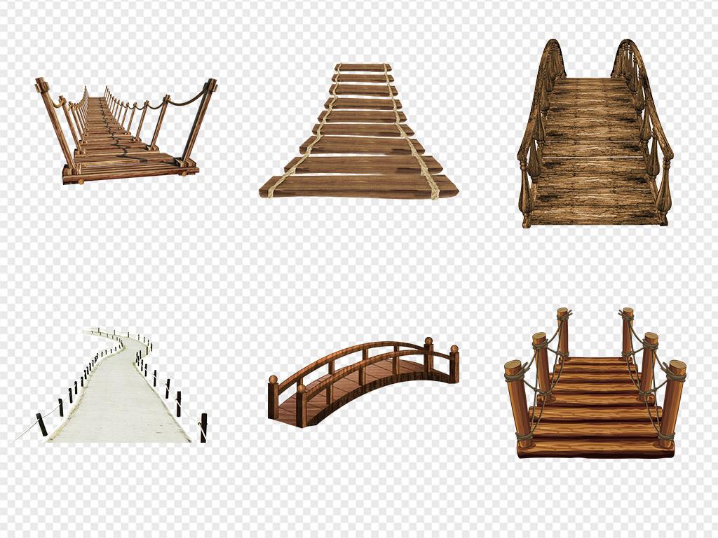 卡通桥水墨桥石头桥伦敦塔桥手绘桥桥面桥梁