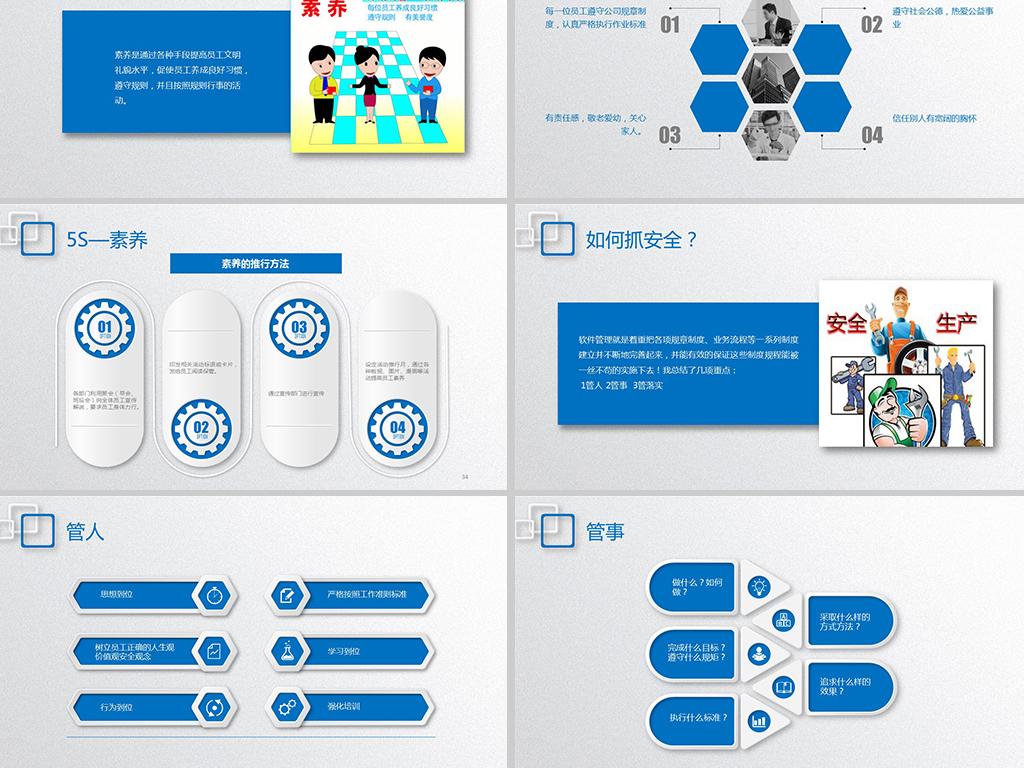 企业5S管理培训安全生产宣传PPT模板