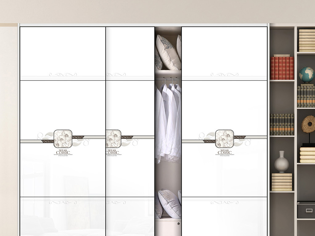UV打印雕刻素描花朵衣柜移门图案图片设计素材 高清模板下载 0.72