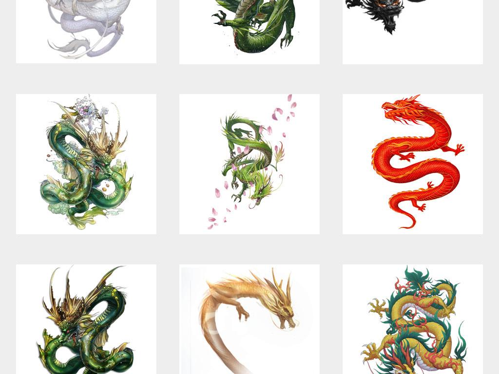 凤凰中国风背景素材手绘背景风水中国png透明背景透明背景龙图腾霸气