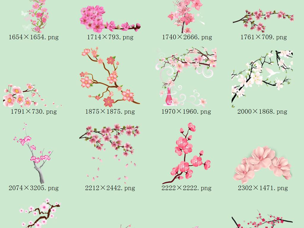 花卉PNG免抠图片素材 模板下载 46.35MB 花卉大全 自然图片