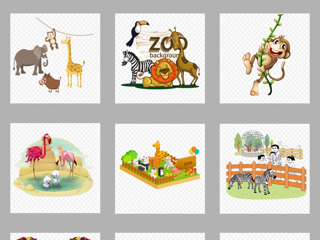 狮子愚人节装饰边框可爱缤纷卡通小报素材动物插画素材马戏团动物插画