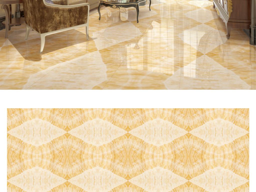 现代欧式客厅高清大理石纹地拼花瓷砖地板画图片
