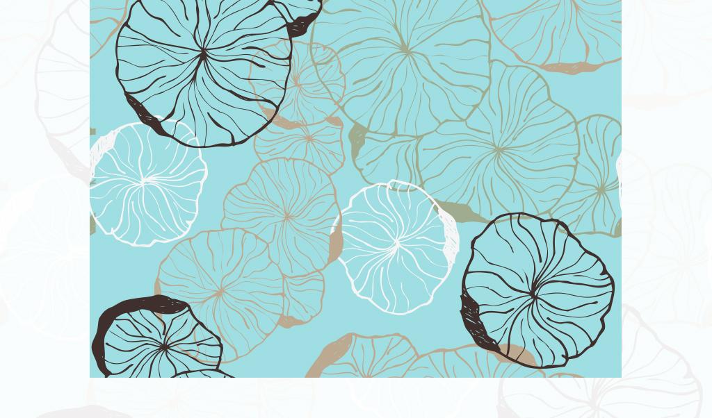 北欧风小清新植物花卉床品四件套图案