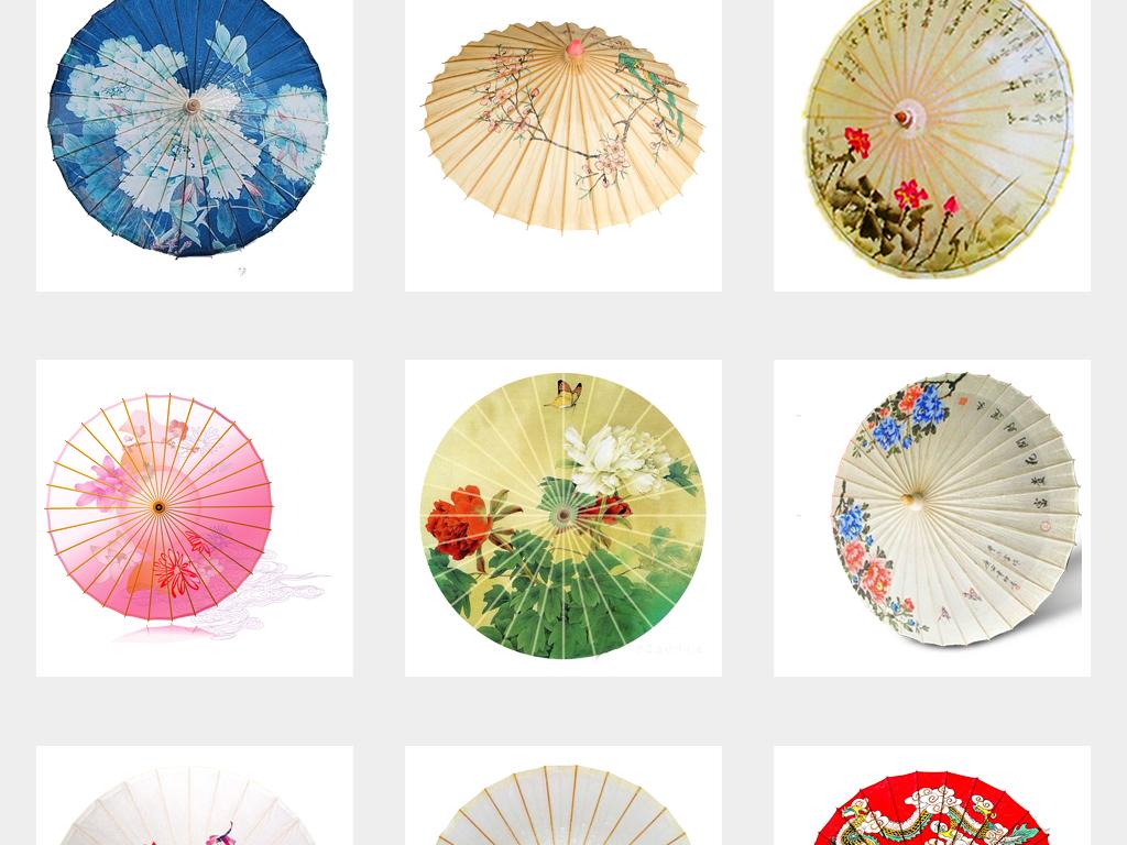 古风油纸伞雨伞花伞png素材