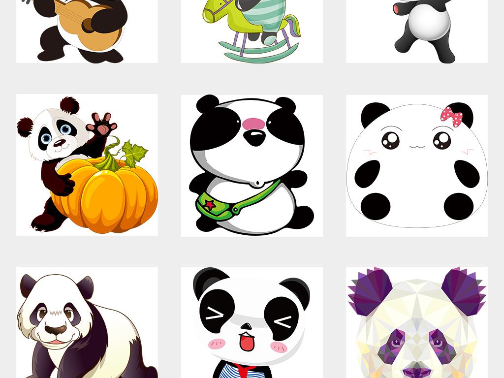 可爱熊猫竹子国宝四川国画PNG元素图片素材 模板下载 28.42MB 其他图片