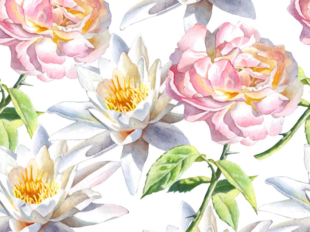 产品图案设计 服装/配饰印花图案 植物花卉图案 > 真实花卉牡丹无缝家