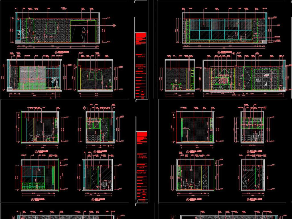 全套办公空间CAD施工图实景图平面设计图下载 图片23.95MB CAD图图片