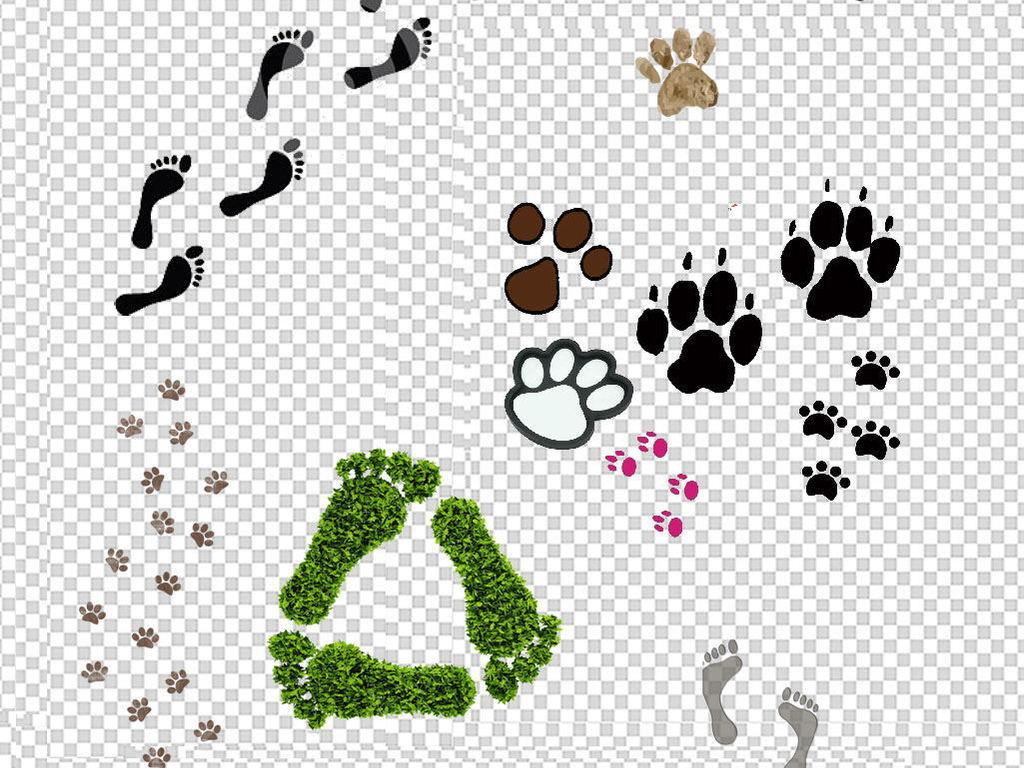 动物人物脚印掌脚丫鞋印足迹人物脚印png素材