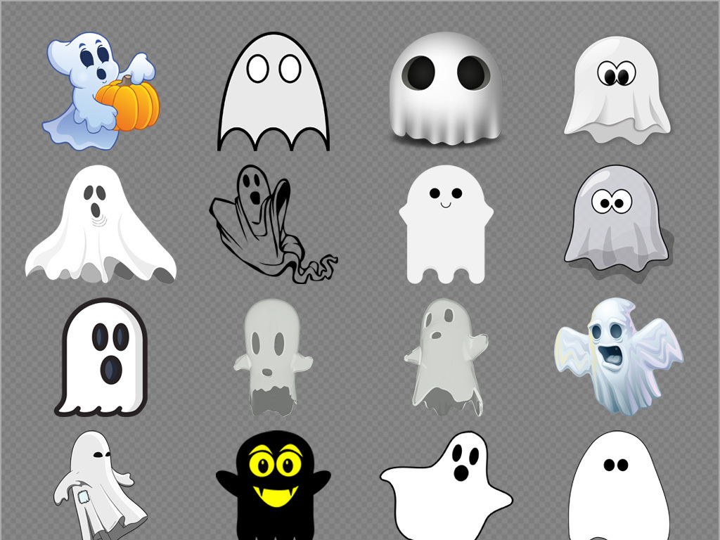 恐怖的鬼怪幽灵免抠png图片透明素材