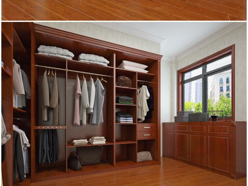 欧式法式美式中式衣柜橱柜鞋柜整木定制图片
